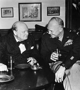 Churchill and Eisenhover whisky