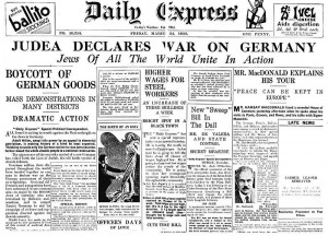 DailyExpress-March1933-judeafrontpage